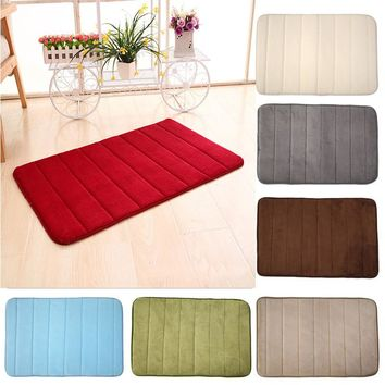 Suede Bathroom Mats