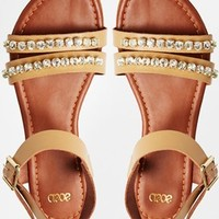 ASOS FAY Embellished Leather Sandals