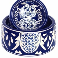 Talavera Bowl - Medium. at barker & meowsky a paw firm since 1998 carries dog clothes, dog accessories, dog carriers, dog collars, dog toys, dog beds and dog treats