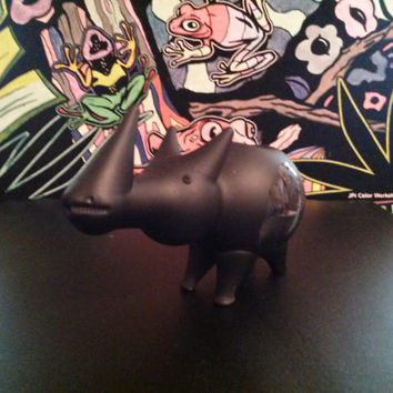 Custom Bob Marley Flat Black Rhino Pipe - Smoking bowl