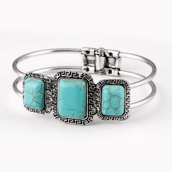 Native American Navajo Bracelet Turquoise Cluster Cuff Rosanna W.. Stunning!!