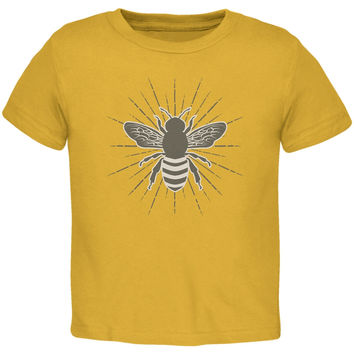 Bumble Bee Rays Gold Toddler T-Shirt