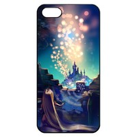Tangled Fantasy Castle Iphone 5 5s Hard Back Shell Case Cover Skin for Iphone 5 Cases Magic - Black/white/clear