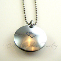 Hand Stamped Jewelry Personalized Custom Locket Necklace- Family locket