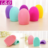 New Hot Selling Brushegg Silica Glove Makeup Washing Brush Scrubber Board Cosmetic Cleaning  Tools E10008
