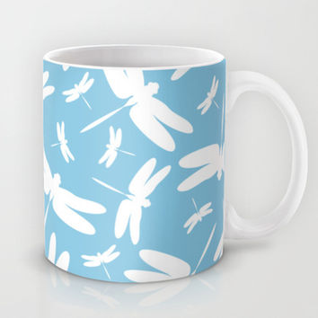 Dragonfly Pattern Mug by markmurphycreative