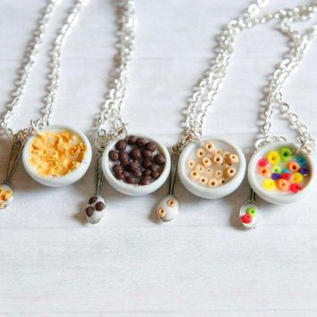Polymer Clay Miniature Food Cereal Bowl Cheerios Fruit Loops Cornflakes Coca Puffs And Milk