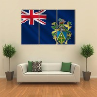 Flag Of Pitcairn Islands Multi Panel Canvas Wall Art