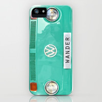 Wander wolkswagen. Summer dreams. Green iPhone & iPod Case by Guido Montañés