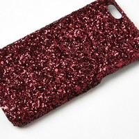 Missguided - Red Glitter iPhone 6 Case