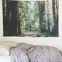 Leah Flores Forest Tapestry- Green One