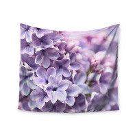 "Sylvia Cook ""Lilac"" Purple Flowers Wall Tapestry"