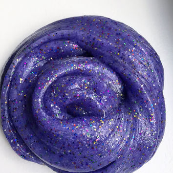 Purple Rain Putty Slime -8 ounce Glitter Slime