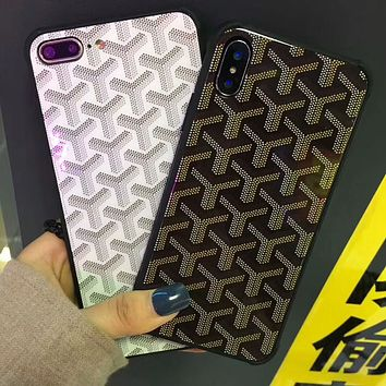 Goyard 2018 classic print iPhone7plus mobile phone case F-OF-SJK