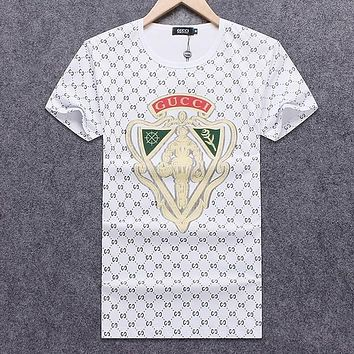 Copy of Gucci Men Fashion Casual Letter Print Shirt Top Tee