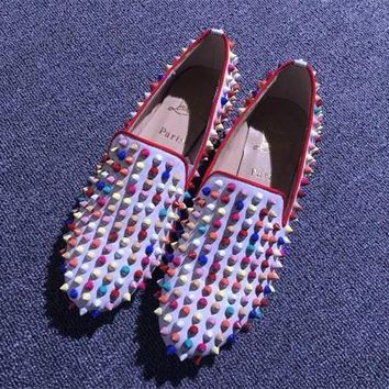 Cl Christian Louboutin Loafer Style #2371 Sneakers Fashion Shoes - Best Deal Online