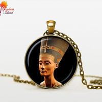NEFERTITI Pendant nefertiti jewelry Nefertiti necklace Gifts for Him  Jewelry  Fantasy Pendant Art Gifts for Her