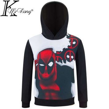 Deadpool Dead pool Taco 2017 New Fashion children  Hoodie kids super hero Hooded Sweatshirt boys girls anime Costumes super hero Jacket For Kids AT_70_6