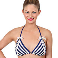 STRIPE AWAY TRIANGLE TOP