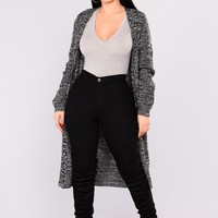 Fiona Marled Sweater Cardigan - Black