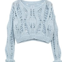 Fanewant — Loose joker long-sleeved sweater knit blouse