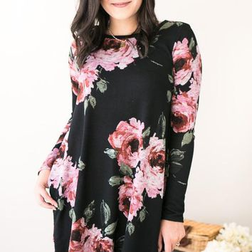Rooftop Flowers Knit Floral Dress