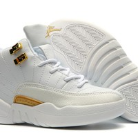 New Nike Air Jordan 12 Kids Shoes White