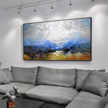 Drawing knife painting oil painting, abstract  on canvas 100% handmade color painting art modern art for home wall decoration