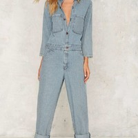 After Party by Nasty Gal Just My Stripe Jumpsuit