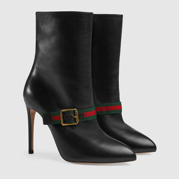Gucci Sylvie leather ankle boot