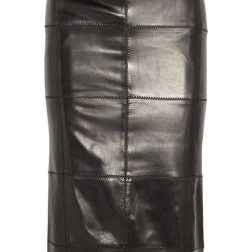 TOM FORD - Patchwork leather midi skirt