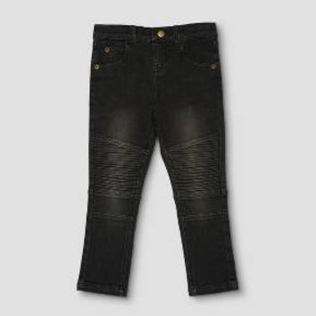 Toddler Boys' Afton Street Moto Jean - Black