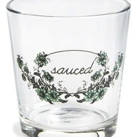 FishsEddy 'Sauced' Double Old Fashioned Glass - Green