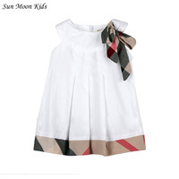 New 2016 Baby Dress Casual Girls Dresses Cotton Plaid Newborn Baby Clothing Toddler Girl Kids Clothes Fashion Vestidos Costumes