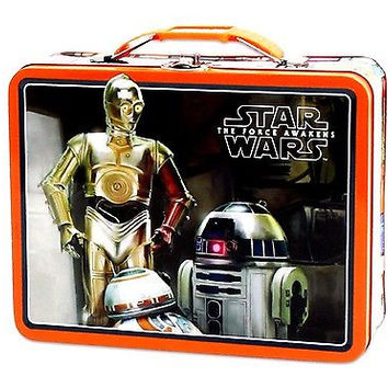 Disney Star Wars Designer Tin Bucket Handle Purse Carrying Case Lunchbox-New!