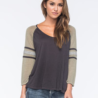 BILLABONG Taking Blame Womens Raglan Tee | Raglans & L/S Tees