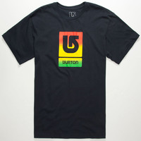 Burton Logo Eclipse Mens T-Shirt Navy  In Sizes