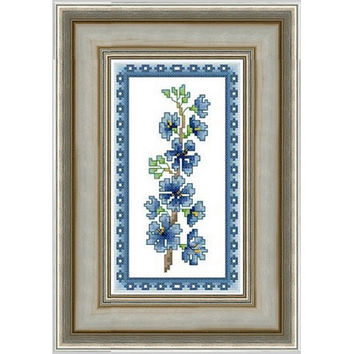 Flowers (Aristea) - PDF Cross Stitch Pattern - INSTANT DOWNLOAD