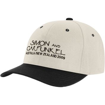 Simon & Garfunkel Men's  Australia-New Zealand Tour Baseball Cap White