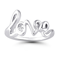 Silver Love Diamond Ring Steven Singer Jewelers