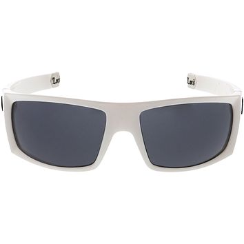 Large OG Old School Locs Hip Hop Fashion White Frame Dark Lens Square Sunglasses C992