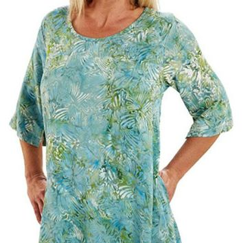 Lost River Tunic Top with Pocket - Sea Spray
