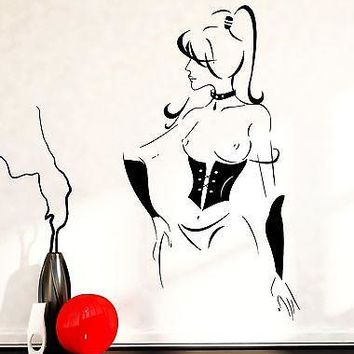 Wall Decal Sexy Girl Nude Naked In Lingerie Hot Vinyl Sticker Unique Gift (z3611)