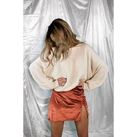 Ella Rust Metallic Skirt