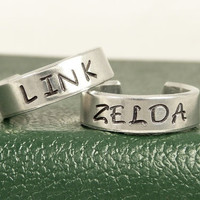 Link and Zelda Ring Set - Best Friends - Couples Rings = 1929561988