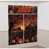 Field of Screams Scene Setters Wall Halloween Decoration Kit