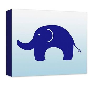 Elephant Children's Canvas Wall Art
