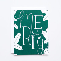 Christmas Card Set | Hand Lettered Holiday Card Set, Illustrated Christmas Cards