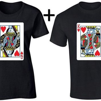Couple Matching T-Shirt King and Queen Couple Shirts Gift