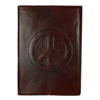 "Fair Trade Leather ""Peace"" Journal/Sketch Book"